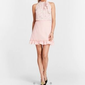 Brooks Brothers Pink A-line Skirt Ruffle